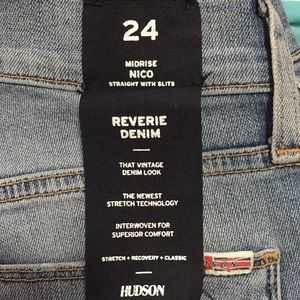 Hudson Jeans Jeans - $215 NWT HUDSON jean mid rise NICO straight SLIT